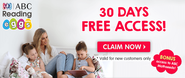 30 Days FREE Access + BONUS access to ABC Mathseeds. Valid for new customers only. Claim Now